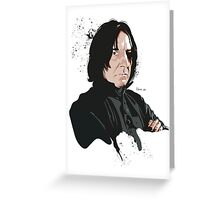 Professor Snape Greeting Card