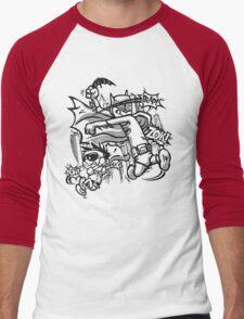 Dick and Bruce - Newsprint Edition Men's Baseball ¾ T-Shirt