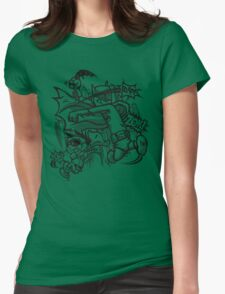 Dick and Bruce - Newsprint Edition Womens Fitted T-Shirt