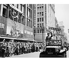 General Patton - Ticker Tape Parade Photographic Print