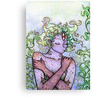 Slumbering Sea Princess Canvas Print