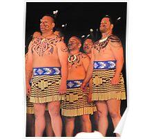 Male Maori Dancers, New Zealand Poster