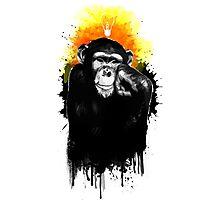 The Thinking Chimp Photographic Print