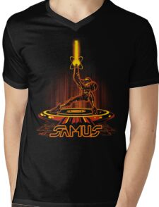 SAMTRON Mens V-Neck T-Shirt