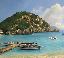The Boats of Paleokastritsa by kirilart