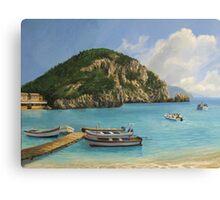 The Boats of Paleokastritsa Canvas Print