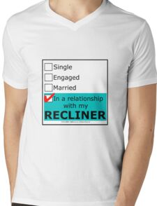 In A Relationship With My Recliner Mens V-Neck T-Shirt