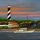 St. Augustine Light by Gordon  Beck