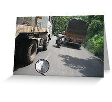 Kasara Ghat navigation Greeting Card