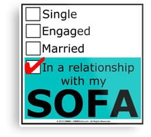 In A Relationship With My Sofa Metal Print