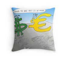 Binary Options News Cartoon Throw Pillow
