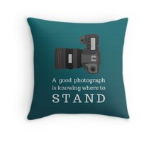 Photography Quote Throw Pillow