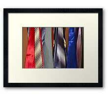 Tie Rack Framed Print