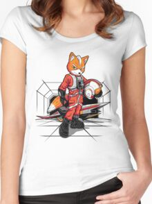 Rebel Fox Women's Fitted Scoop T-Shirt