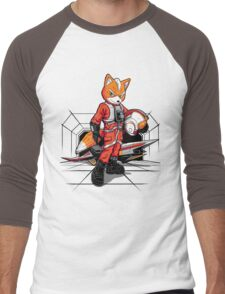 Rebel Fox Men's Baseball ¾ T-Shirt
