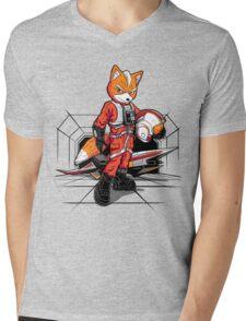 Rebel Fox Mens V-Neck T-Shirt