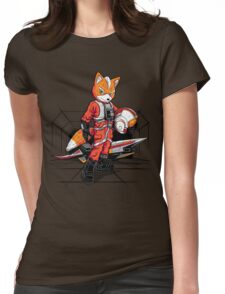 Rebel Fox Womens Fitted T-Shirt
