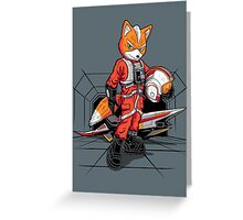 Rebel Fox Greeting Card