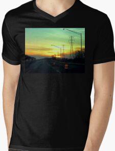 Interstate Going West Mens V-Neck T-Shirt