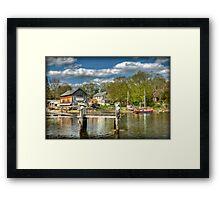 H.A. Burnham Boat Yard Framed Print