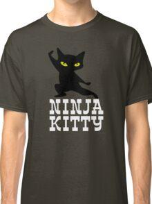 Ninja Kitty Retro Poster Classic T-Shirt