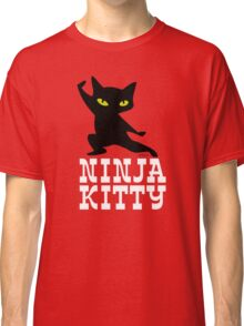 Ninja Kitty Retro Poster Classic T-Shirt