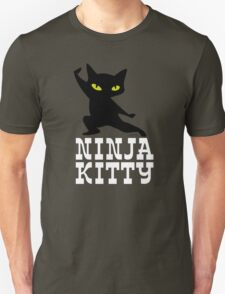 Ninja Kitty Retro Poster T-Shirt