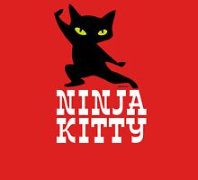 Ninja Kitty Retro Poster T-Shirt