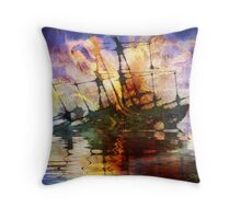 The Lost Ship V Throw Pillow