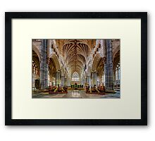 Exeter Cathedral Nave Framed Print