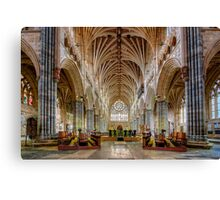 Exeter Cathedral Nave Canvas Print