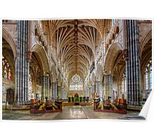 Exeter Cathedral Nave Poster