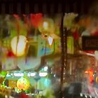 ChinaTown windshield art in the rain by David Denny
