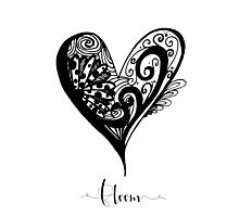 Bloom Heart Affirmation  Photographic Print