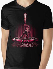 MARIOTRON Mens V-Neck T-Shirt