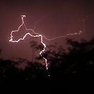 Lightning strikes by Anita Deppe