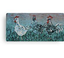 Bridget's Poultry 1 Canvas Print