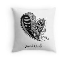 Personal Growth Heart Affirmation Throw Pillow