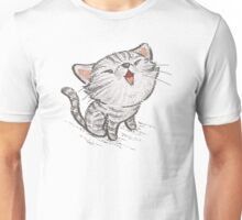 Kitten in a good mood Unisex T-Shirt