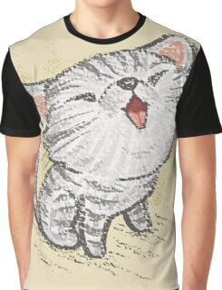 Kitten in a good mood Graphic T-Shirt