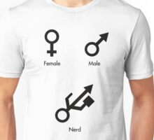 Female, Male, Nerd! Unisex T-Shirt