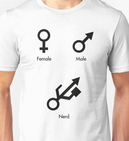Female, Male, Nerd! Unisex T-Shirt