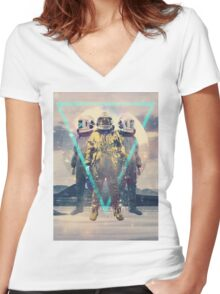 Lost In Transition Women's Fitted V-Neck T-Shirt