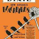 DIXIE BLACKBIRDS (vintage illustration) by ART INSPIRED BY MUSIC