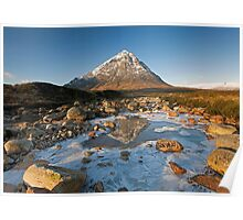 Buachaille Etive Mor winter reflections Poster