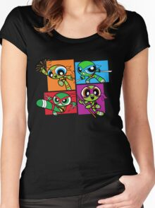 Power POP Turtles Women's Fitted Scoop T-Shirt