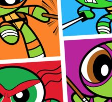 Power POP Turtles Sticker