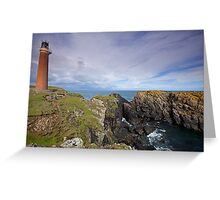 Lighthouse at the Butt of Lewis, Isle of Lewis, Scotland Greeting Card
