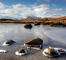 Loch Buidhe & the Black Mount, Rannoch Moor, Glencoe by Martin Lawrence