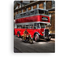 RV 6358-English Electric bodied Leyland Titan Canvas Print